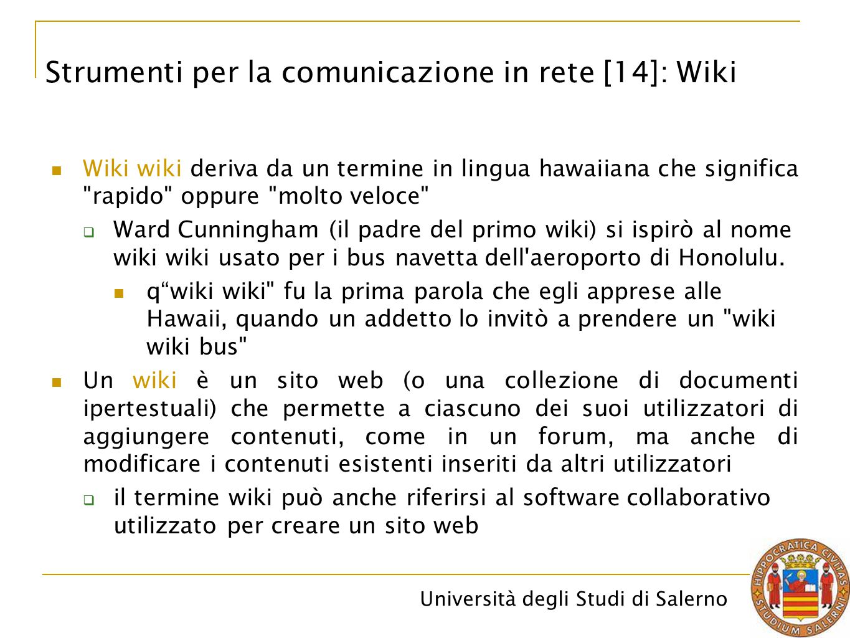 Strumenti per la comunicazione in rete [14]: Wiki